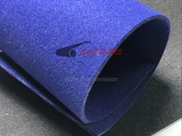 blue felt belt