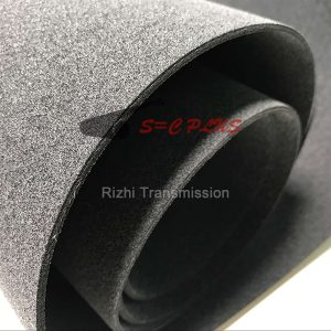 Gray felt conveyor belt