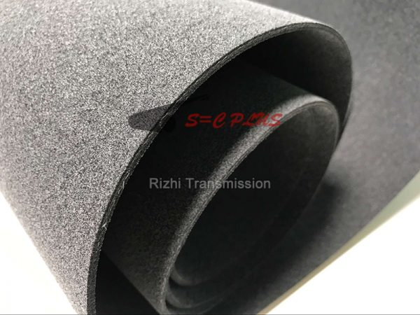 Gray felt conveyor belt