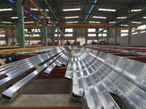 felt conveyor for aluminum