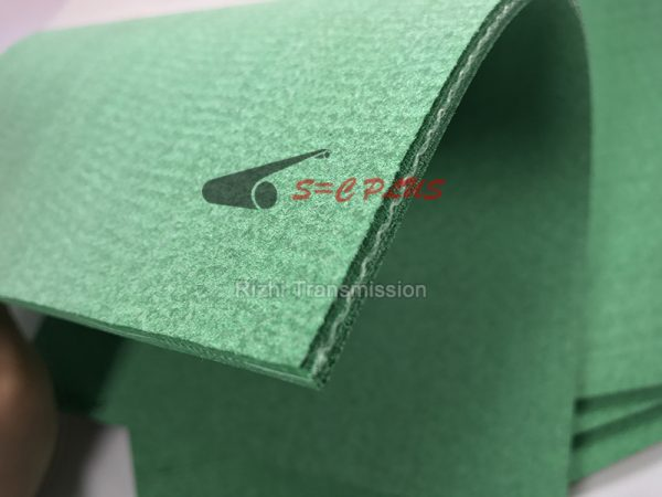 green felt conveyor belt