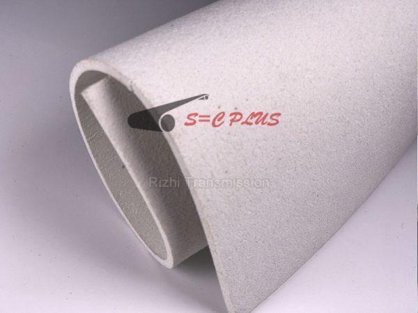 white 4.0mm felt belt
