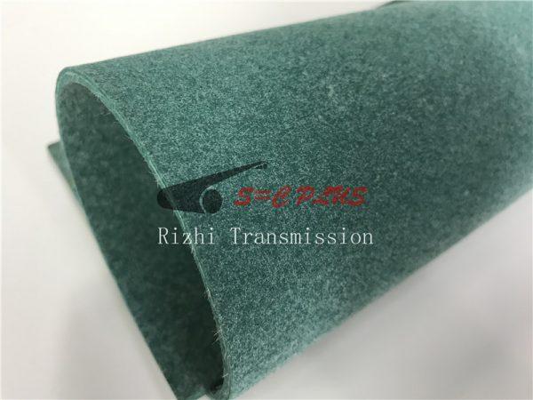 felt belt green